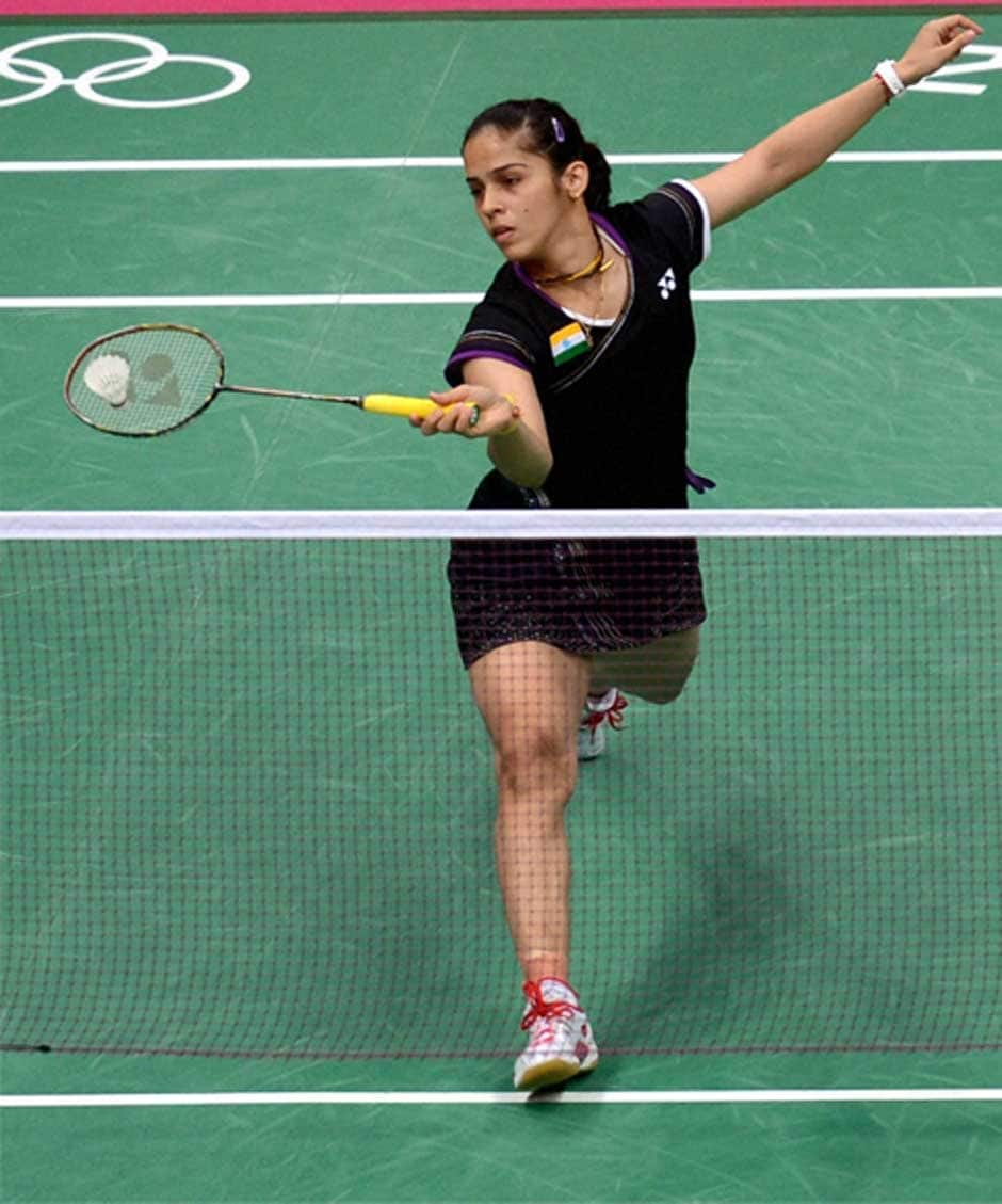 Saina in action. PTI