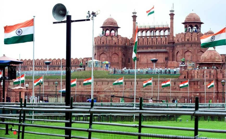 The Red Fort prepared for the Independence Day function. Naresh Sharma/ Firstpost