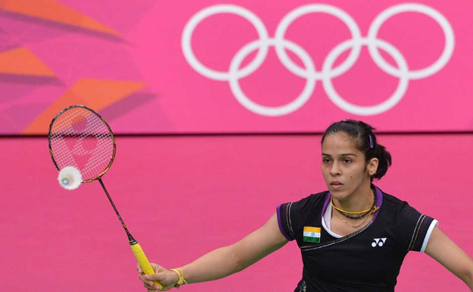 Saina in action. Adek Berry/AFP