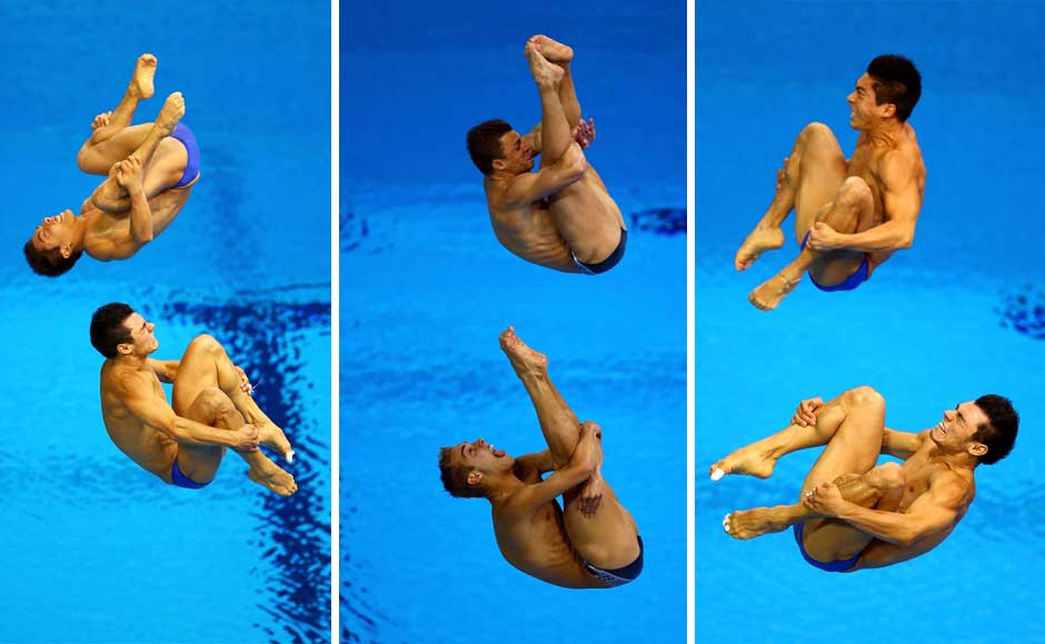 Identify the divers and the Asanas. Getty Images