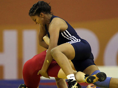 File picture of India's Geeta Phogat in action. Reuters