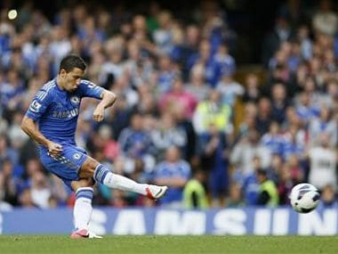 Chelsea's Eden Hazard scores with a penalty against Newcastle United during their Premier League match at Stamford Bridge in London. Reuters