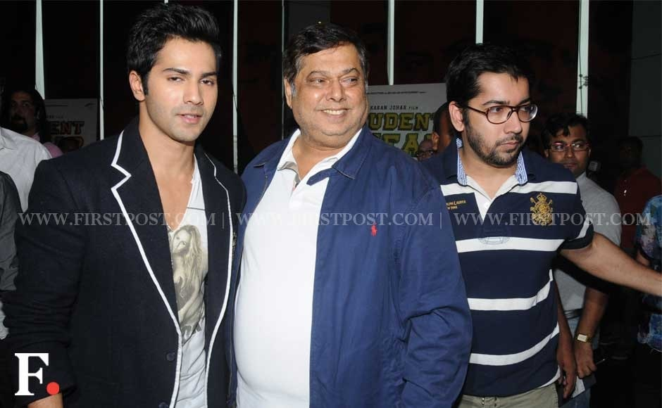 Varun Dhawan with father David Dhawab and brother Rohit Dhawan. Sachin Ghokale/Firstpost