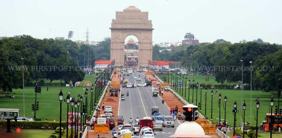 Rajpath being readied for Independence Day. Naresh Sharma/ Firstpost