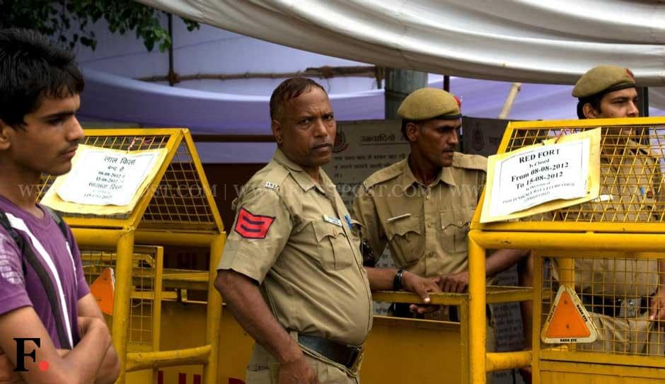 High security across the national capital for Independence Day. Naresh Sharma/ Firstpost