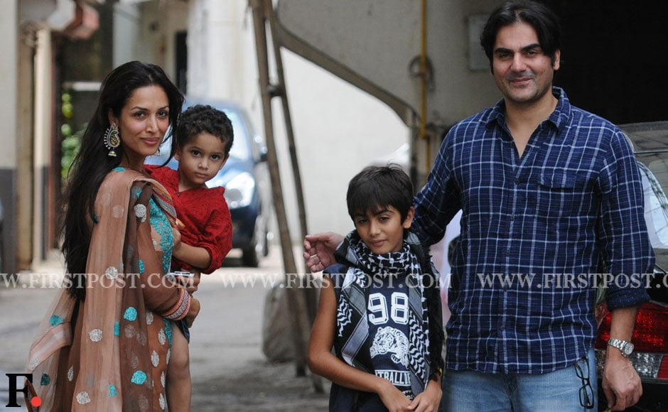 Malaika Arora Khan with her children and husband Arbaaz Khan celebrates Eid at Salman Khan's residence. Sachin Gokhale/Firstpost