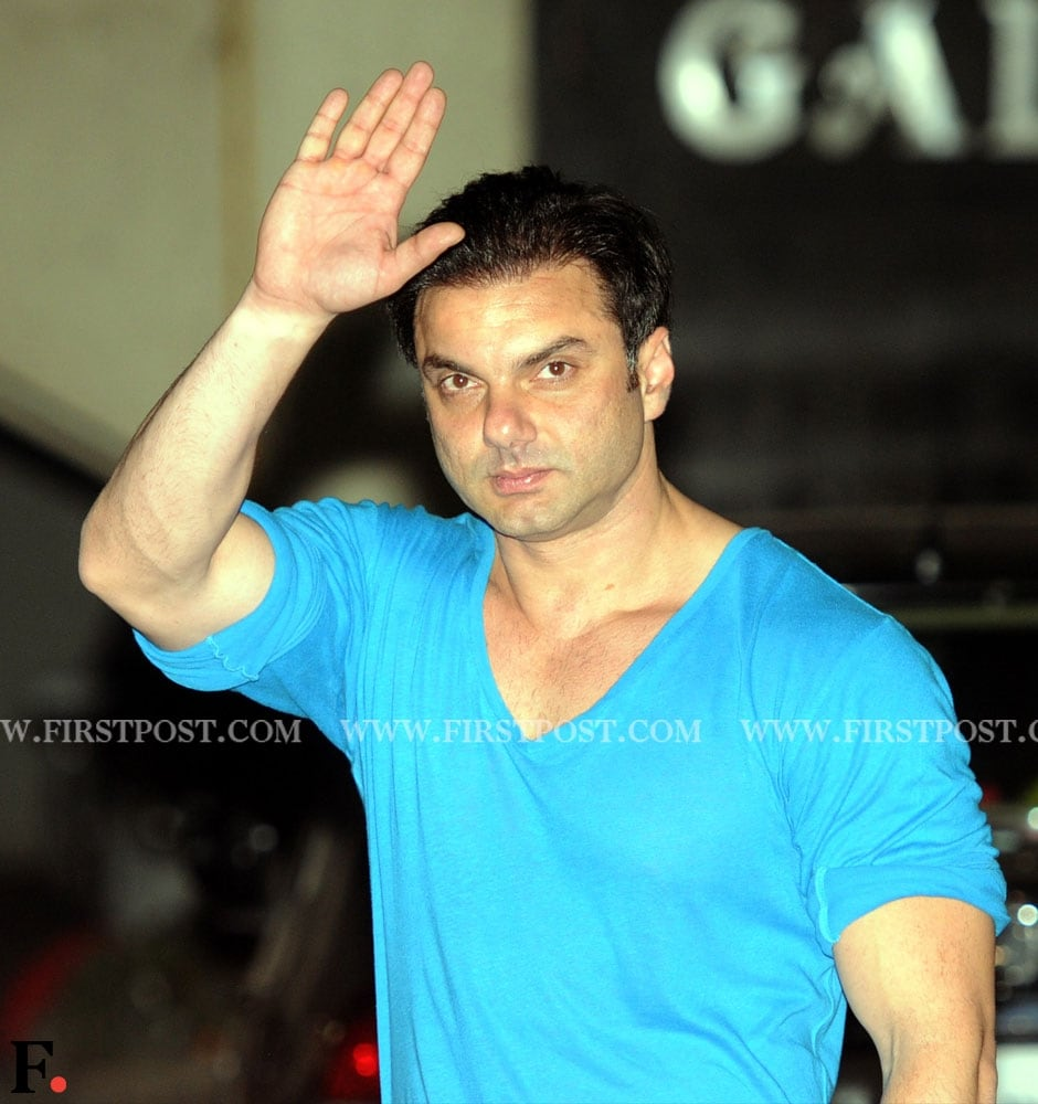 Sohail Khan celebrates Eid with his family at his brother Salman's residence. Sachin Gokhale/Firstpost