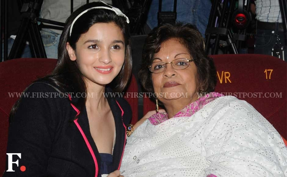Alia Bhatt and Karan's mother Hiroo Johar. Sachin Gokhale/Firstpost