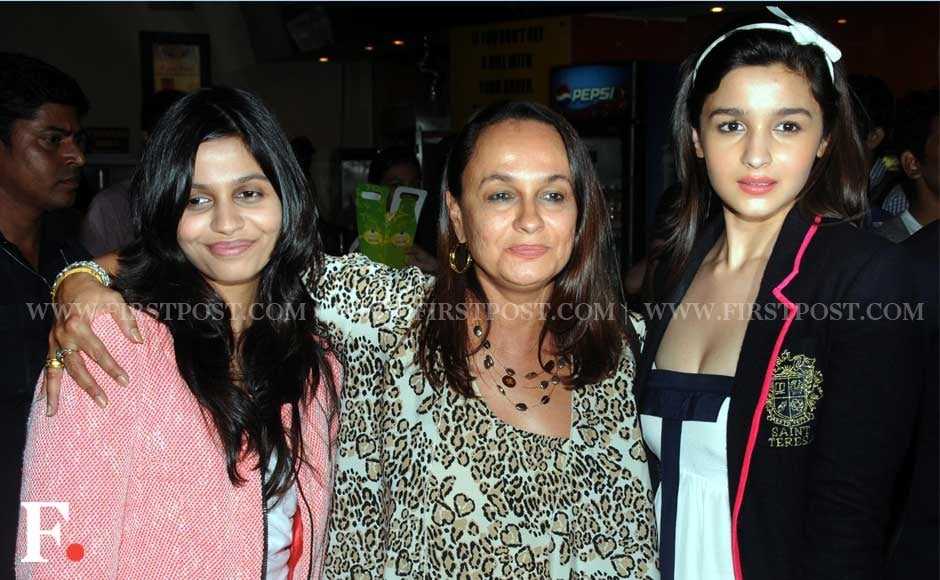 Soni Razdan with daughter Alia Bhatt and a friend. Sachin Gokhale/Firstpost
