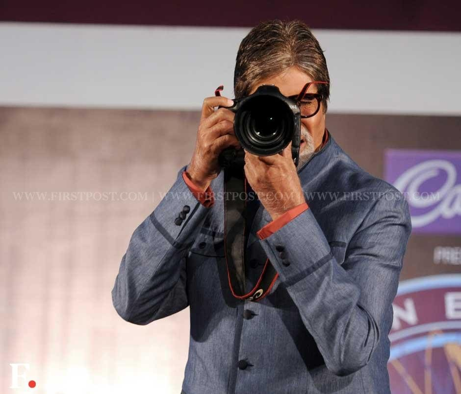 Amitabh Bachchan clicking a picture instead of being clicked. Sachin Gokhale/Firstpost