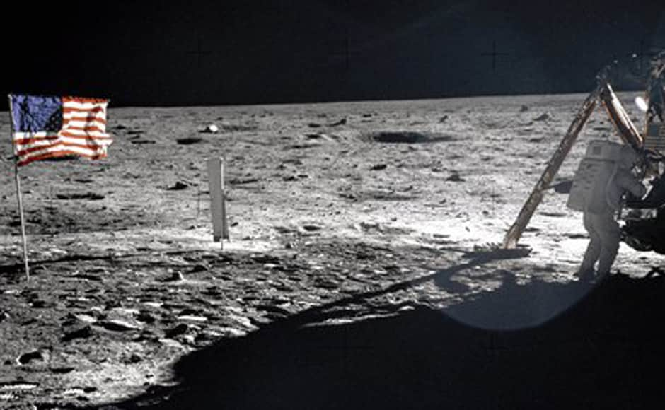 In this 20 July, 1969 photo provided by NASA shows Apollo 11 astronaut Neil Armstrong on the lunar surface. AP