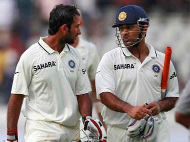 Mahendra Singh Dhoni and Cheteshwar Pujara will need to play well today. AP