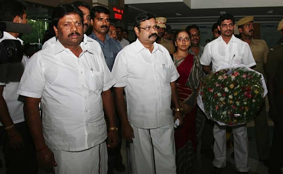 Tamil Nadu Health Minister VS Vijay at the hospital to pay homage. Firstpost