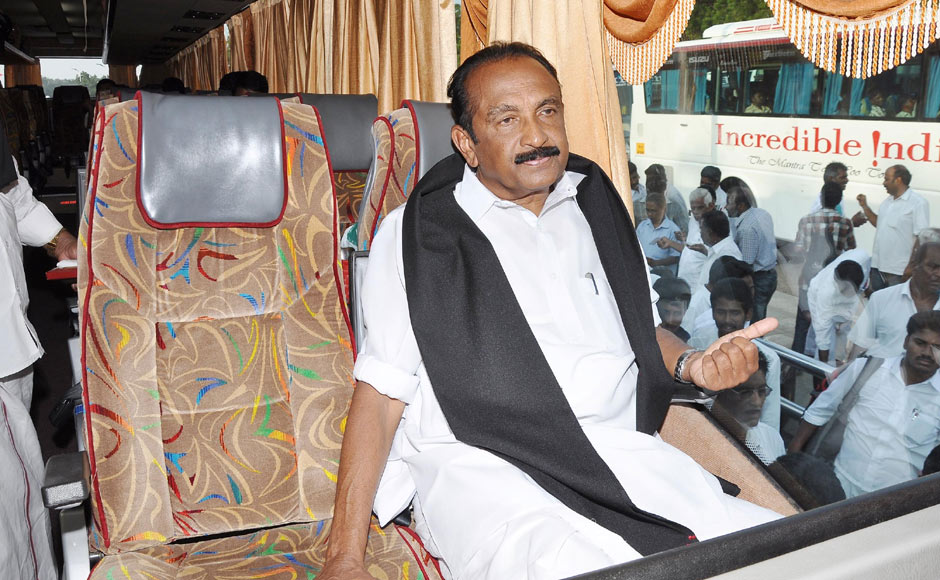 The MDMK general secretary had written a letter to the MP CM requesting him to cancel Rajapaksa's visit. Firstpost