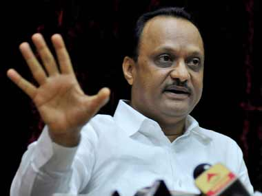 Ajit Pawar with his foot in his mouth. PTI