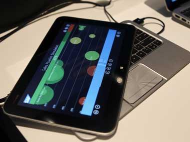 A Hewlett-Packard computer tablet. Reuters