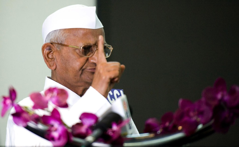 Hazare said that he was never in support of launching a political party. Naresh Sharma/Firstpost