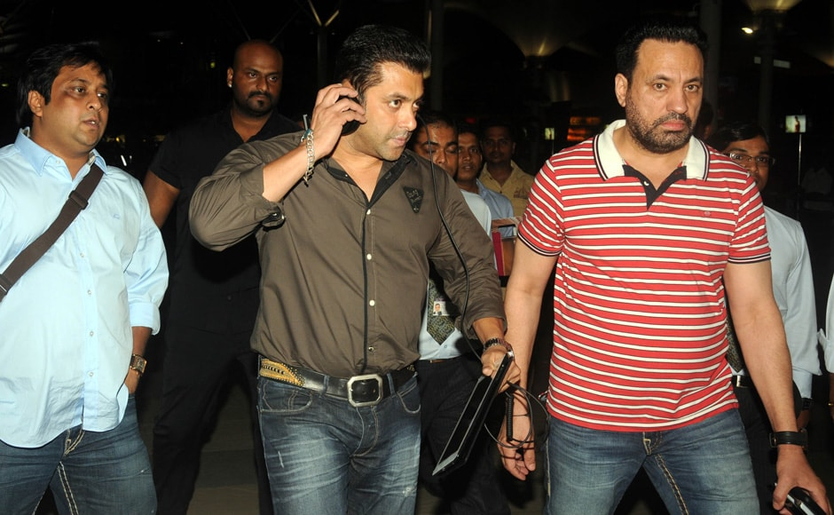 Salman Khan at Mumbai domestic airport. Sachin Gokhale/Firstpost