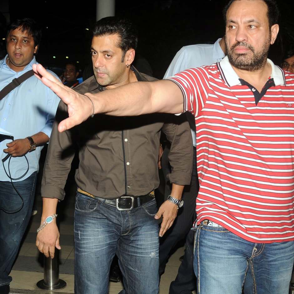 Salman Khan with his bodyguards. Sachin Gokhale/Firstpost