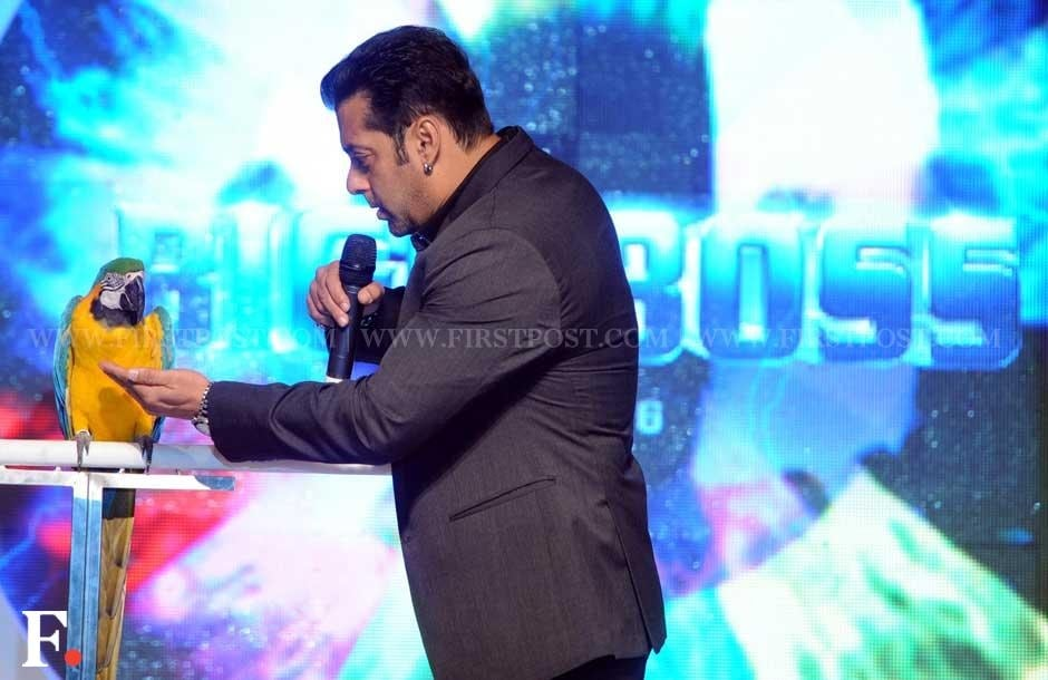 Salman Khan had a macaw with him on stage as he launched the sixth season of Bigg Boss. Sachin Gokhale/Firstpost