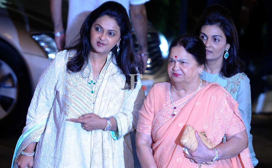 Deepti Salgaocar and Kokilaben Ambani at the party. Sachin Gokhale/Firstpost