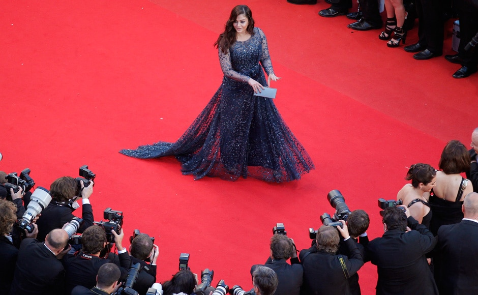 "Actress Aishwarya Rai makes her first red carpet appearance after her baby is born, at the screening of the film ""Cosmopolis"" in competition at the 65th Cannes Film Festival 25 May2012. Reuters"