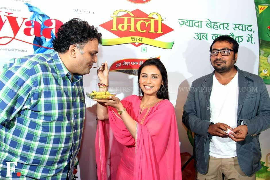 Rani Mukherji with Anurag Kashyap at a special chaha poha event to promote her film Aiyaa. Sachin Gokhale/Firstpost