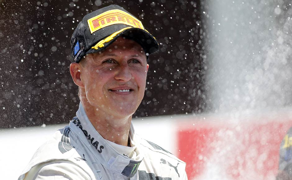 There was however a moment to be cherished with his time at Mercedes. Schumacher managed third place in the European Grand Prix 2012 and became the oldest driver to finish on the podium. Reuters