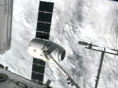 The SpaceX Dragon capsule. AP