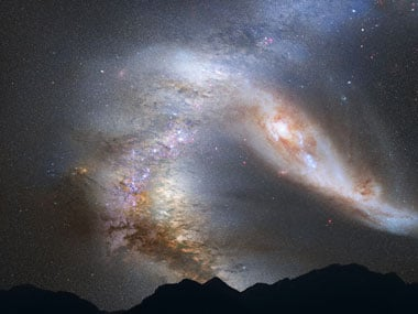 Astronomers discover that the Andromeda galaxy is roughly the same size as the Milky Way