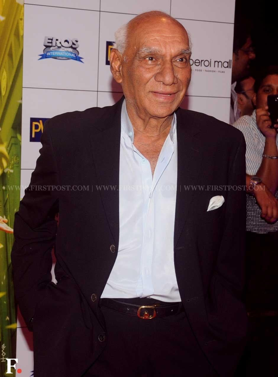 Veteran director Yash Chopra at the premiere of Sridevi's English Vinglish. Sachin Gokhale/Firstpost