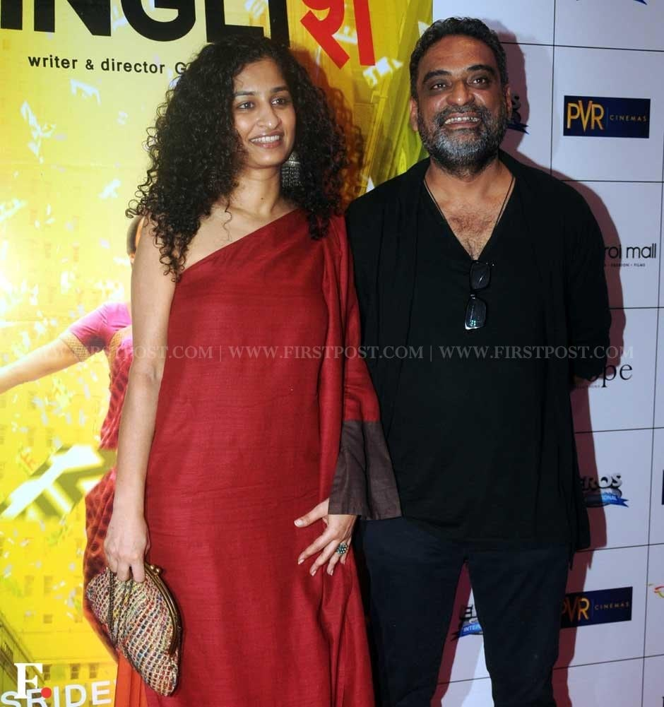 Director Gauri Shinde with husband R Balki at the premiere of her film, English Vinglish. Sachin Gokhale/Firstpost