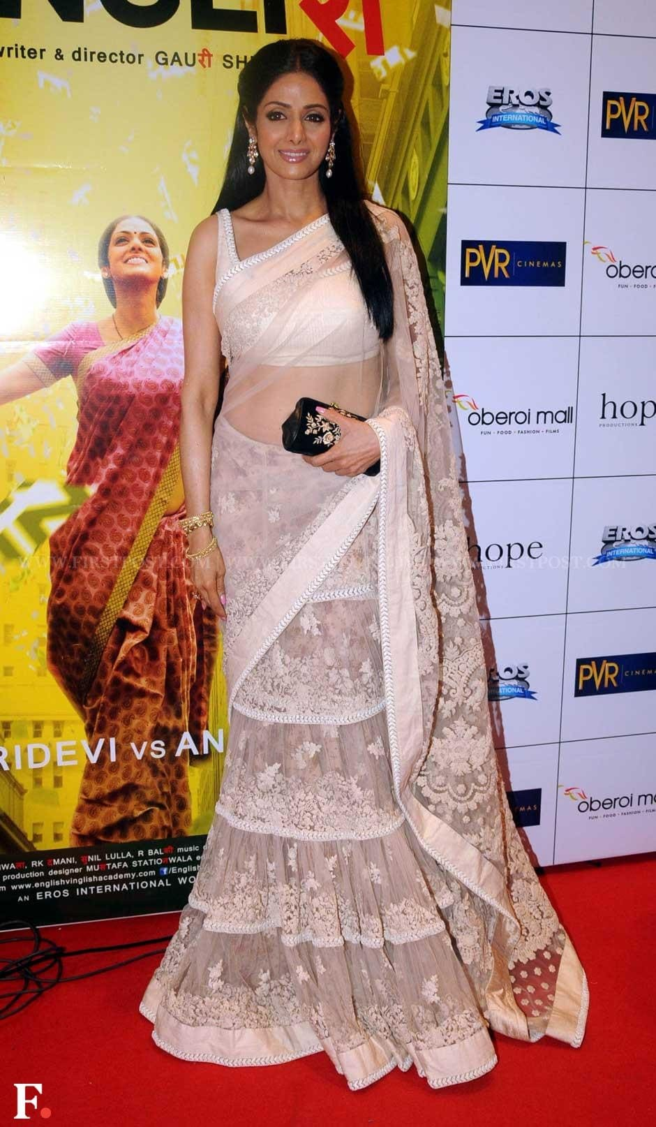 Sridevi at the premiere of her film English Vinglish. Sachin Gokhale/Firstpost