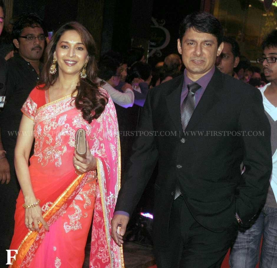 Madhuri Dixit Nene with her husband Dr Sriram Nene at the premiere of English Vinglish. Sachin Gokhale/Firstpost