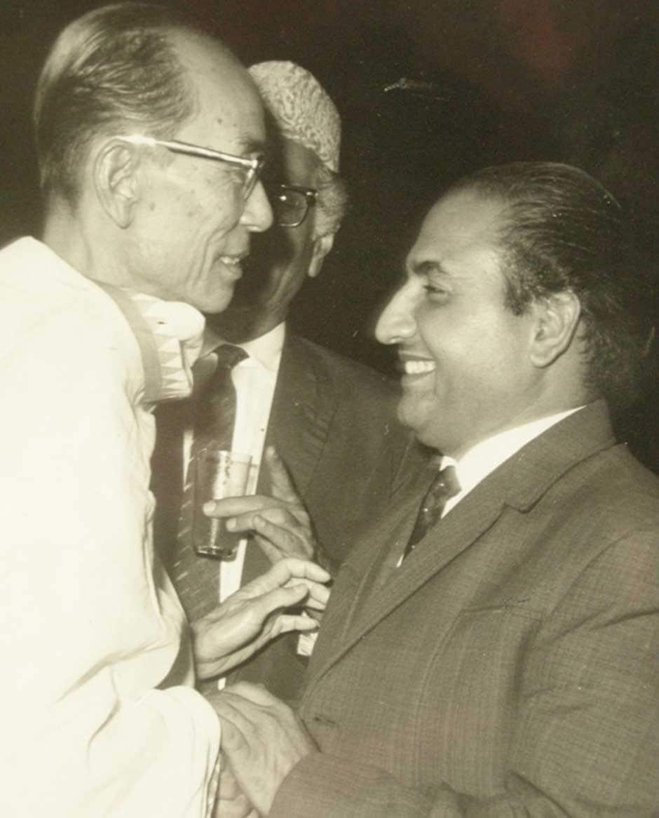 SD Burman and Mohd Rafi shared a long and cherished association. Image courtesy: Yasmin Rafi.