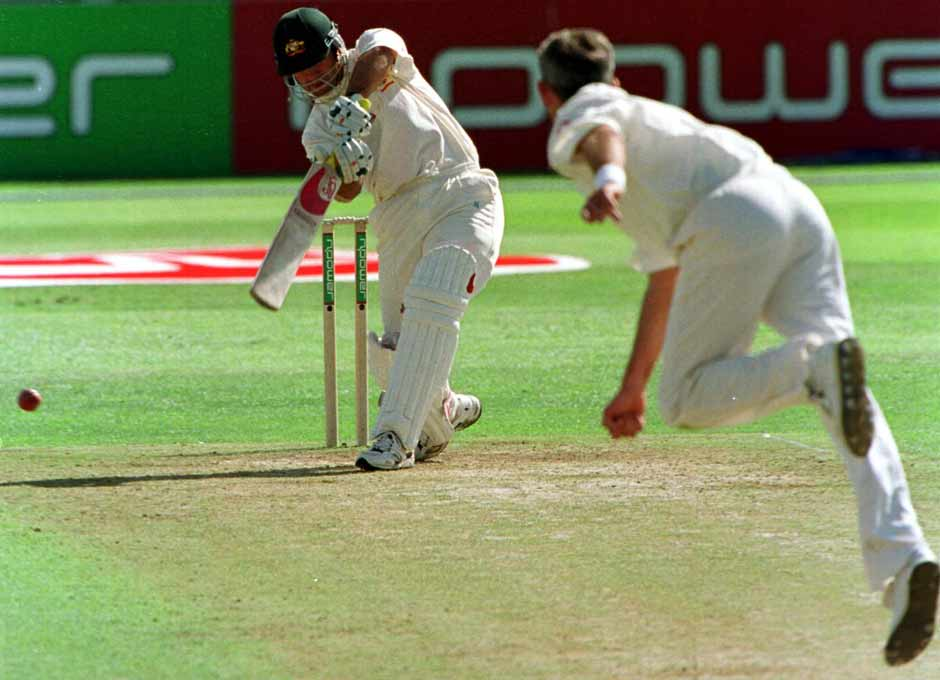 Leeds was a good hunting ground for Ponting. This image is from his innings of 144 in 2001, where he scored at a strike rate of 93.50. It consisted of 20 fours and three sixes. Getty Images