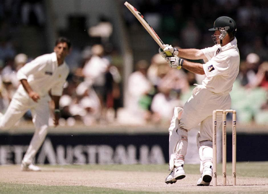 Ponting was near flawless in home conditions. Here he is in action against Pakistan in Perth, where he just fell short of a double-ton (197). He then had to wait for three-and-a-half years before he could score 200-runs in an innings. Getty Images