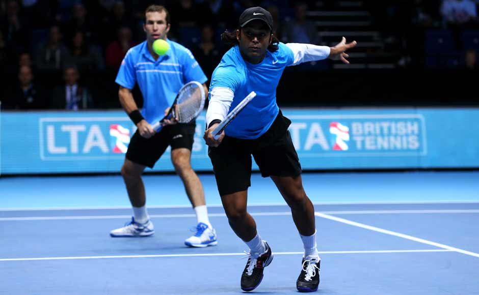 Paes-Stepanek were on course for a close win but Bhupathi saved one match point with a backhand volley and at 9-9. Getty Images