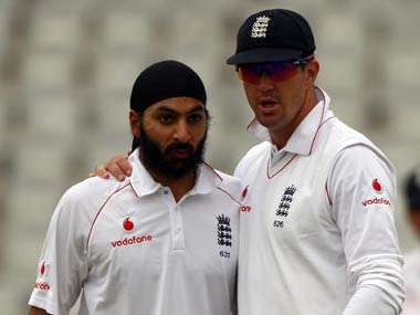 File picture of Monty Panesar and Kevin Pietersen. Getty Images