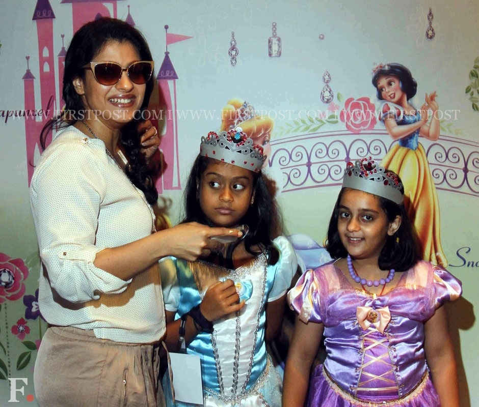Kajol with daughter Nysa (R) at the Disney Princess Academy event in Mumbai. Sachin Gokhale/Firstpost