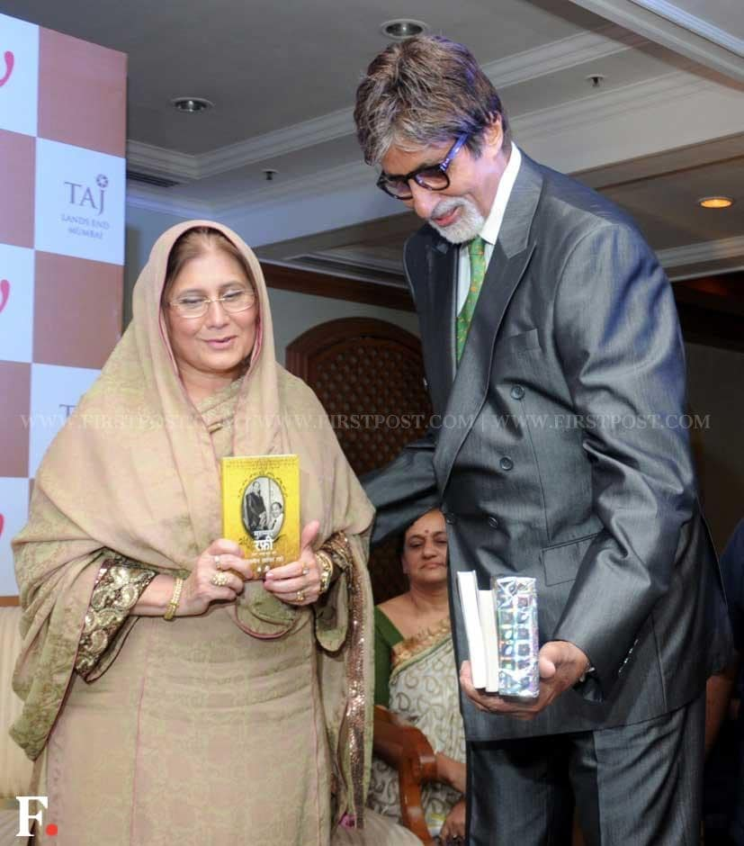 Amitabh Bachchan with Mohammad Rafi's daughter-in-law Yasmin Rafi launching her book, Mohammed Rafi My Abba - A Memoir. Sachin Gokhale/Firstpost