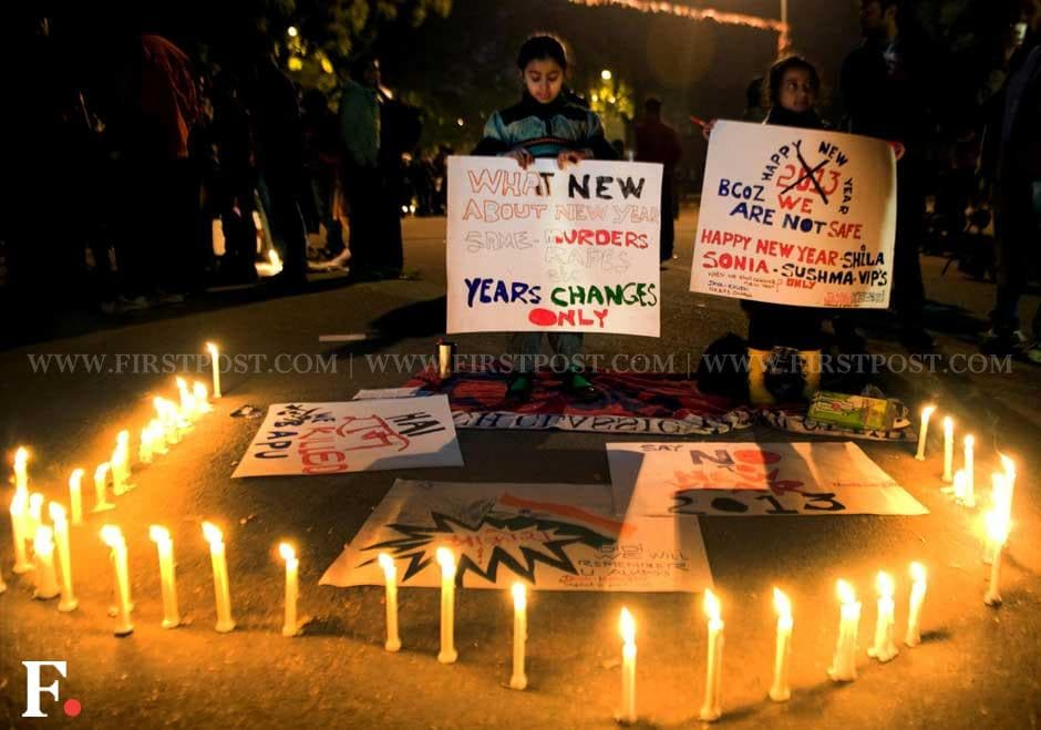 Protesters gathered at Jantar Mantar on Monday, demanding justice for rape victims. Naresh Sharma/Firstpost