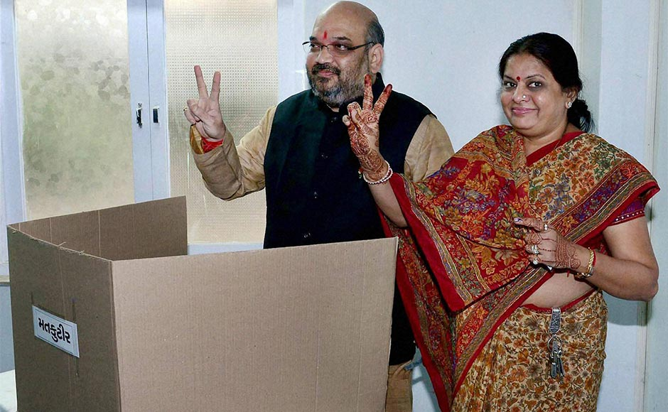 Images: BJP's top leaders cast their vote during the Gujarat polls  [Photos]