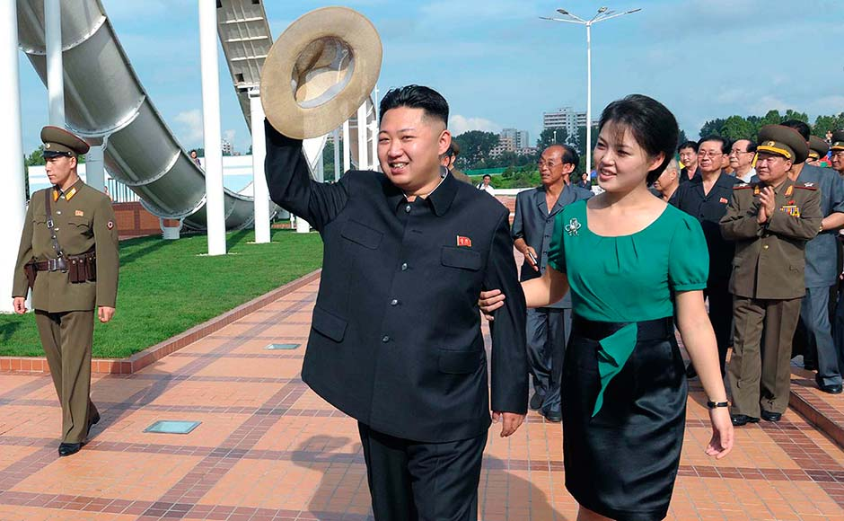 North Korean leader Kim Jong-Un and wife Ri Sol-Ju attend the opening ceremony of the Rungna People's Pleasure Ground on Rungna Islet along the Taedong River in Pyongyang in this July photo. For North Korean leader Kim Jong-Un, this year was a landmark. Apart from launching a rocket in space much to the consternation of the US and South Korea, the fact that he had a wife was something that left almost everyone intrigued. Oh and the fact that the Onion's spoof saying he was the sexiest man in the world made news headlines in China, ensured the spotlight stayed firmly on him. Reuters