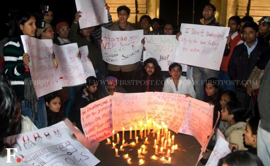 The Delhi gangrape incident triggered outrage with students of Jawaharlal Nehru University staging a demonstration outside Vasant Kunj Police Station. Naresh Sharma/Firstpost