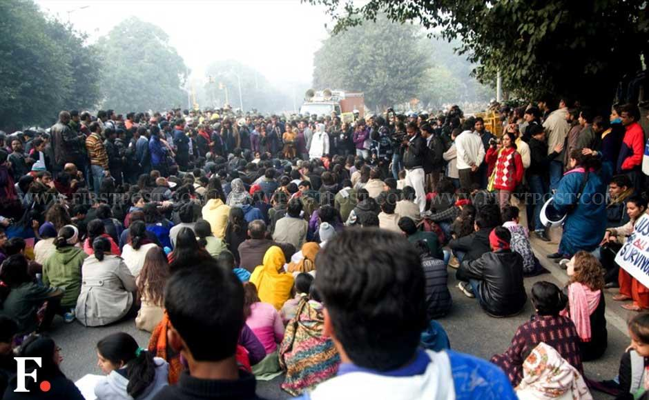 Protesters were stopped while heading to India Gate. Naresh Sharma/Firstpost