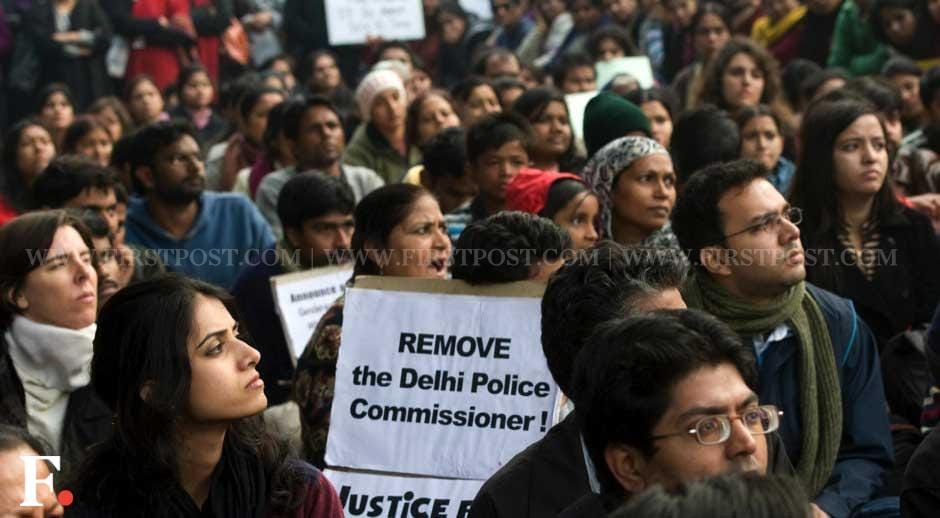 The protesters sought the ouster of the Delhi police commissioner for his handling of the case. Naresh Sharma/Firstpost