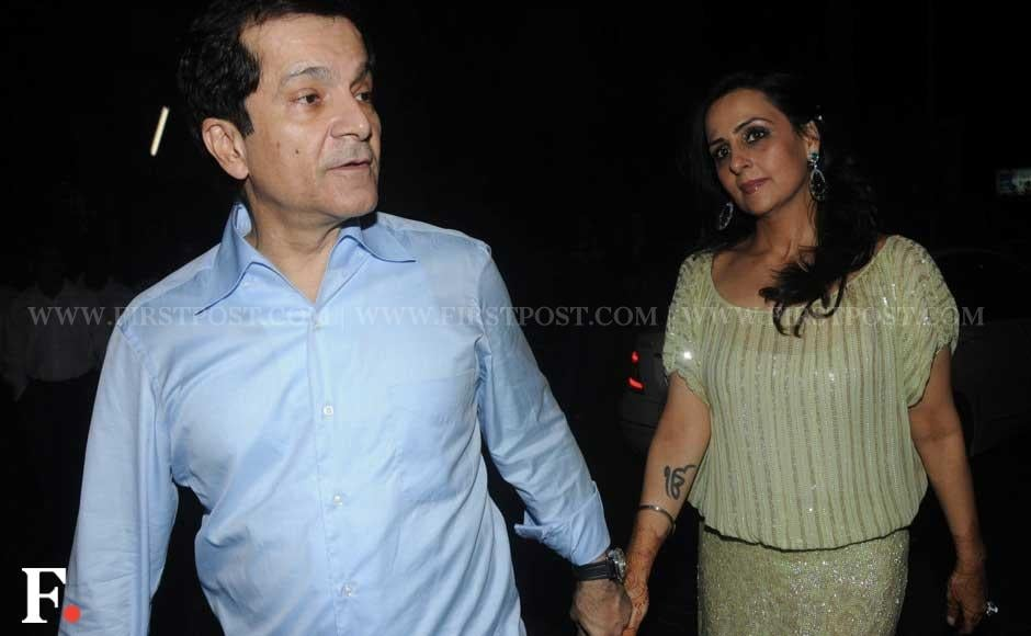 Newly-weds Surendra and Alka Hiranandani attended businessman Sunny Dewan's Christmas party held at his house in Bandra, Mumbai. Sachin Gokhale/Firstpost