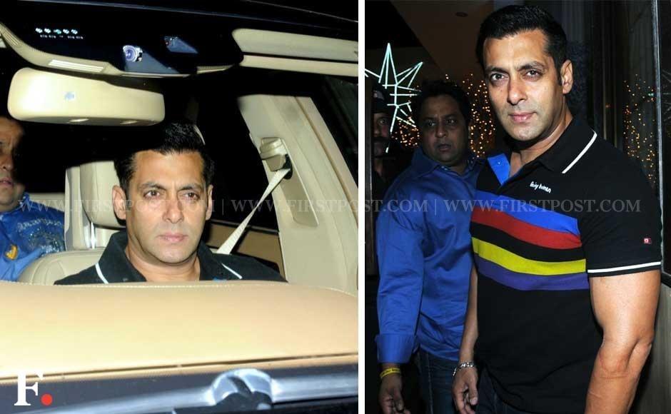 Salman Khan at businessman Sunny Dewan's Christmas party held at his house in Bandra, Mumbai. Sachin Gokhale/Firstpost