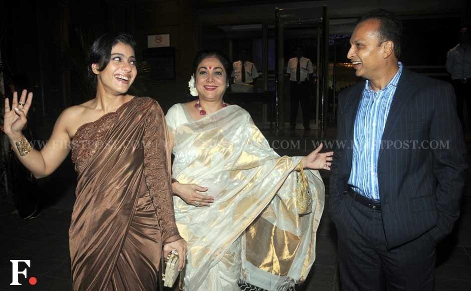 Kajol With Tina And Anil Ambani